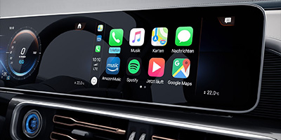 EBERT Mercedes EQC Smartphone integration